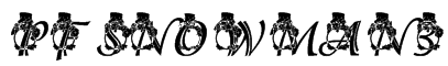 pf_snowman3_adorable Font