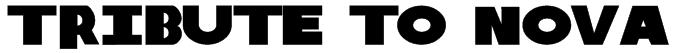 Tribute to Nova Font