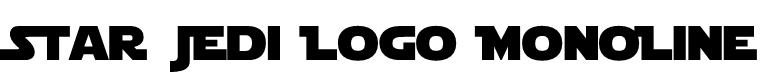 Star Jedi Logo MonoLine Font