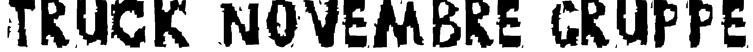 TRUCK NOVEMBRE GRUPPE Font