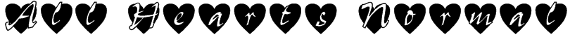All Hearts Normal Font