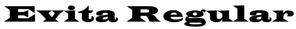 Evita Regular Font