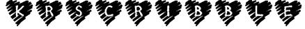 KR Scribble Heart Font