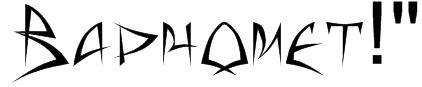 """Baphomet!"""" Font"""