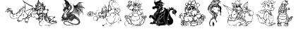 Ev's Dragons Font
