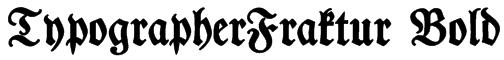 TypographerFraktur Bold Font