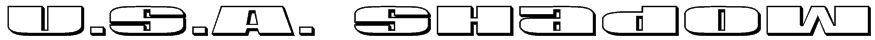 U.S.A. Shadow Font