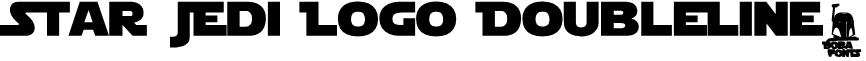 Star Jedi Logo DoubleLine2 Font