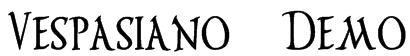 Vespasiano Demo Font