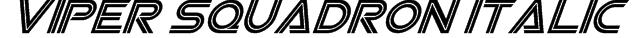 Viper Squadron Italic Font
