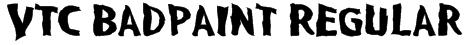 VTC BadPaint Regular Font