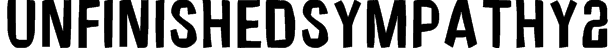 UnfinishedSympathy2 Font