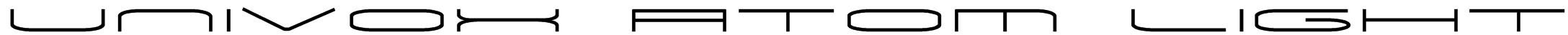 Univox Atom Light Font