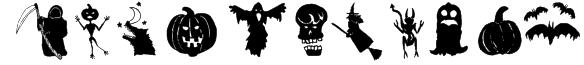 HollowWeenie Bats Font