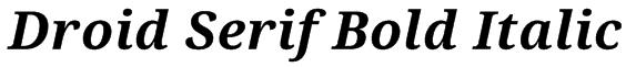 Droid Serif Bold Italic Font