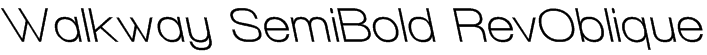 Walkway SemiBold RevOblique Font