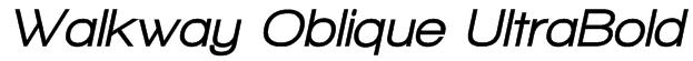 Walkway Oblique UltraBold Font