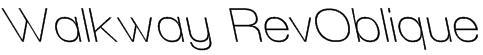 Walkway RevOblique Font