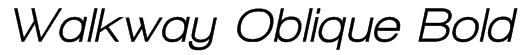 Walkway Oblique Bold Font