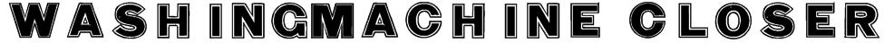 WashingMachine Closer Font