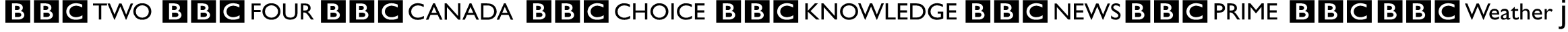 BBC Striped Channel Logos Font