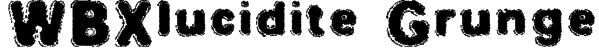 WBXlucidite Grunge Font