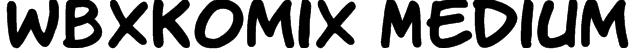 WBXKomiX Medium Font