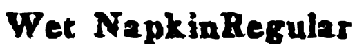 Wet NapkinRegular Font