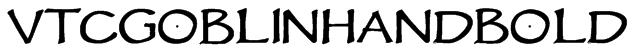 VTCGoblinHandBold Font