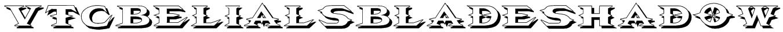 VTCBelialsBladeShadow Font