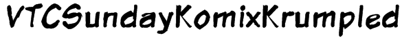 VTCSundayKomixKrumpled Font