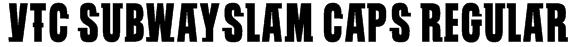 VTC SubwaySlam Caps Regular Font