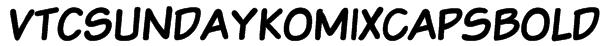 VTCSundaykomixcapsBold Font