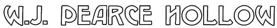 W.J. Pearce hollow Font