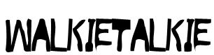 WalkieTalkie Font