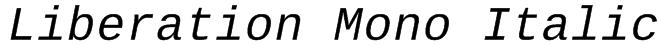 Liberation Mono Italic Font