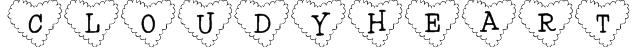 101! Cloudy HeartZ Font