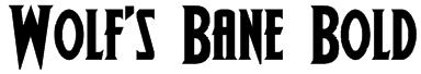 Wolf's Bane Bold Font