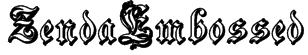 ZendaEmbossed Font