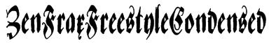 ZenFraxFreestyleCondensed Font