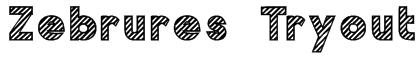 Zebrures Tryout Font