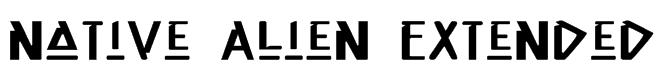 Native Alien Extended Font