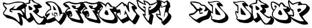 graffonti .3d.drop. Font