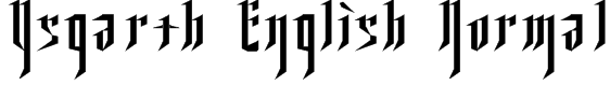 Ysgarth English Normal Font