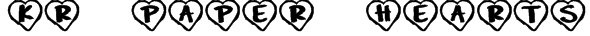 KR Paper Hearts Font