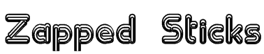 Zapped Sticks Font