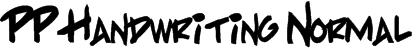 PP Handwriting Normal Font