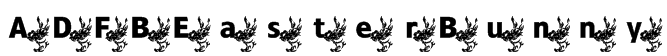 ADFBEasterBunny Font