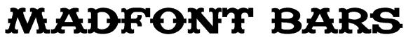 Madfont Bars Font
