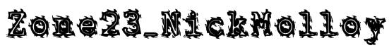 Zone23_NickMolloy Font